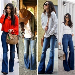 NWOT Vigoss Flared Distressed Jeans